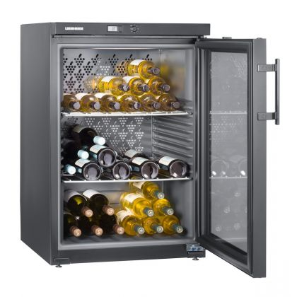 Vitrina de vin Vinothek Liebherr WKb 1802 negru, o zona de temperatura individuala, 134 l, 66 sticle