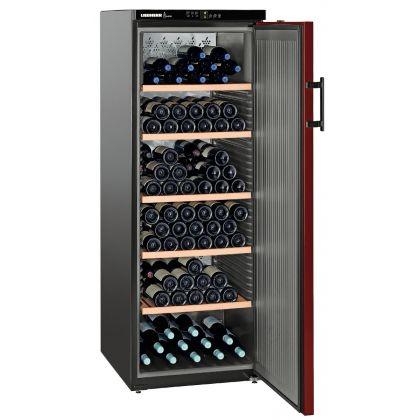 Vitrina de vin Vinothek Liebherr WTr 4211 negru si rosu, 6 zone graduale de temperatura, 377 l, 200 sticle