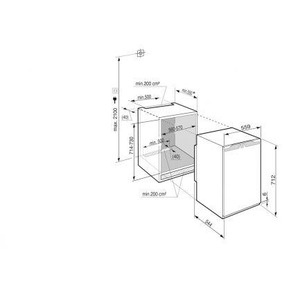 Congelator incorporabil sub blat Liebherr IGN 1064, NoFrost, SuperFrost, SoftSystem, 63 l, clasa A++