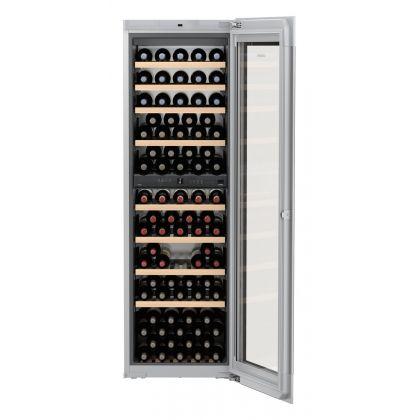Vitrina de vin incorporabila Vinidor Liebherr EWTgb 3583, sticla neagra, 2 zone de temperatura individuala, protectie UV, 271 l, 83 sticle