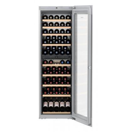 Vitrina de vin incorporabila Vinidor Liebherr EWTgw 3583, sticla alba, 2 zone de temperatura individuala, protectie UV, 271 l, 83 sticle