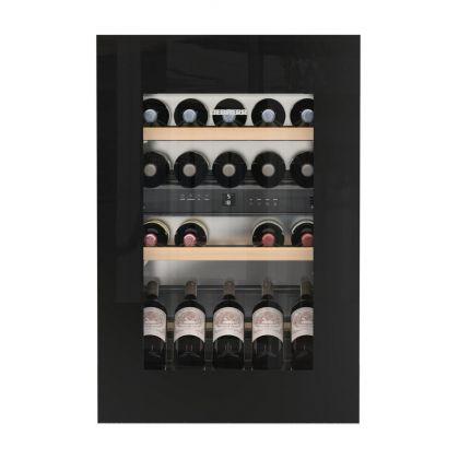 Vitrina de vin incorporabila Vinidor Liebherr EWTgb 1683, sticla neagra, 2 zone de temperatura individuala, protectie UV, 104 l, 33 sticle