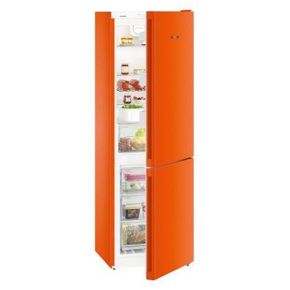 Combina frigorifica Liebherr CNno 4313, No Frost, DuoCooling, 304 L, clasa E, NeonOrange