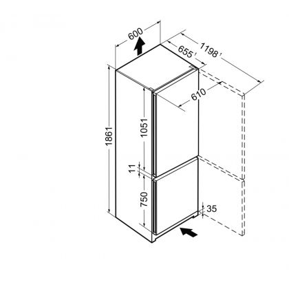 Combina frigorifica Liebherr CPel 4313, SmartFrost, DuoCooling, 308 L, clasa A+++, Silver