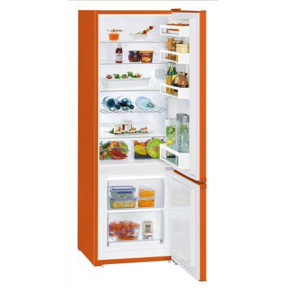 Combina frigorifica Liebherr CUno 2831, SmartFrost, 265 L, clasa A++, NeonOrange
