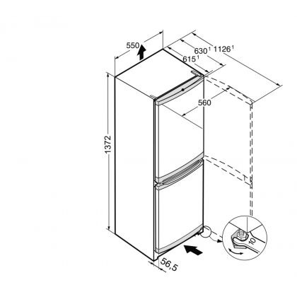 Combina frigorifica Liebherr CUel 2331, SmartFrost, 209 L, clasa A++, Silver