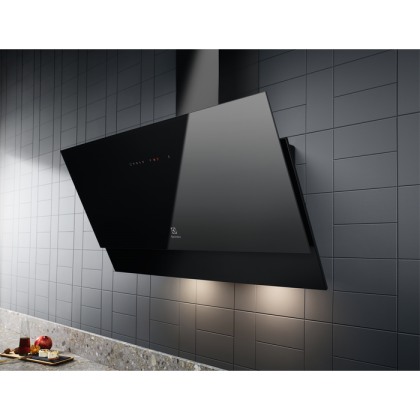 Hota de perete Electrolux LFV419K, 90 cm, neagra, 600 mc/h, Hob2Hood