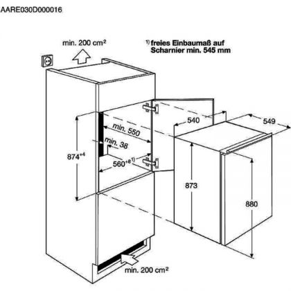 Frigider incorporabil sub blat Electrolux LRB2AF88S, 142 l, static