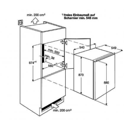 Frigider incorporabil sub blat Electrolux LFB2AF88S, 109 l, static, compartiment congelator