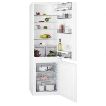 Combina frigorifica incorporabila AEG SCB618F3LS, 267 l, Static Low Frost, control Touch