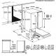 Masina de spalat vase incorporabila AEG FSB53927Z GlassCare, 14 seturi, inverter, MaxiFlex, clasa D, AirDry, 60 cm, Beam on floor