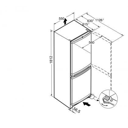 Combina frigorifica Liebherr SmartFrost CUef 331, 55 cm, inox