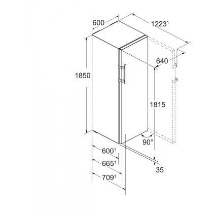 """Frigider cu o usa Liebherr Comfort Kef 4330, 60 cm, inox, clasa D, Display tactil TFT de 2,4"""""""