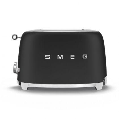 Prajitor de paine Smeg TSF01BLMEU, 950 W, negru mat, retro