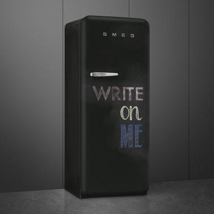 Frigider cu o usa retro Smeg FAB28RDBB5, negru, Write on Me, ventilat, inverter