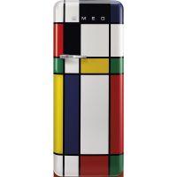 Frigider cu o usa retro Smeg FAB28RDMC5, multicolor, ventilat, inverter