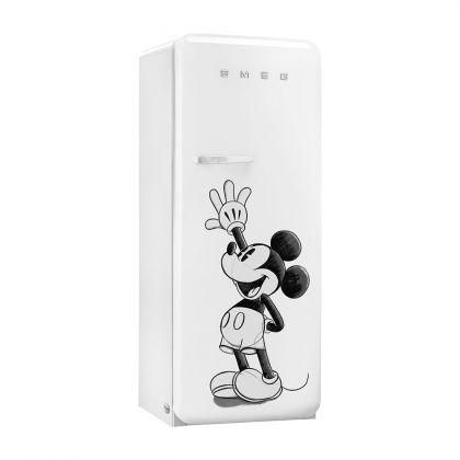 Frigider cu o usa retro Smeg FAB28RDMM5, alb, cu Mickey Mouse, ventilat, inverter
