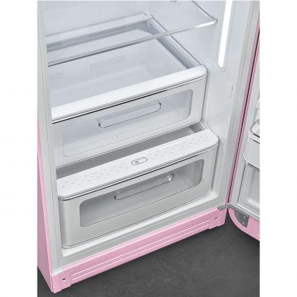 Frigider cu o usa retro Smeg FAB28RPK5, roz, ventilat, inverter