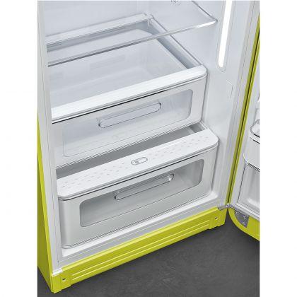 Frigider cu o usa retro Smeg FAB28RLI5, verde lime, ventilat, inverter