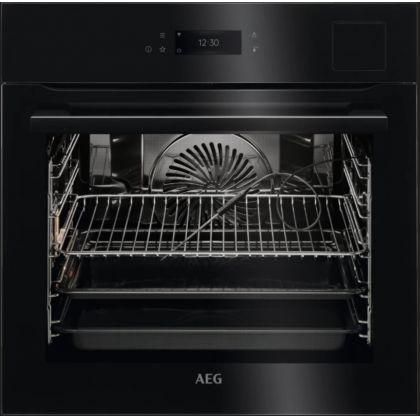 Cuptor incorporabil electric cu aburi AEG BSE798380B, SousVide, negru, proba de carne