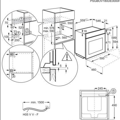 Cuptor incorporabil cu abur AEG BSE798380M, 70 l, SousVide, Conectivitate Wi-Fi, 25 functii, proba de carne