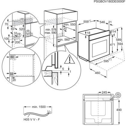Cuptor incorporbil cu abur Steambake AEG BPE558370M, 71 l, pirolitic, Conectivitate Wi-Fi