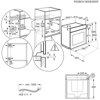 Cuptor incorporbil cu abur Steambake AEG BCE558370B, 71 l, catalitic, Conectivitate Wi-Fi