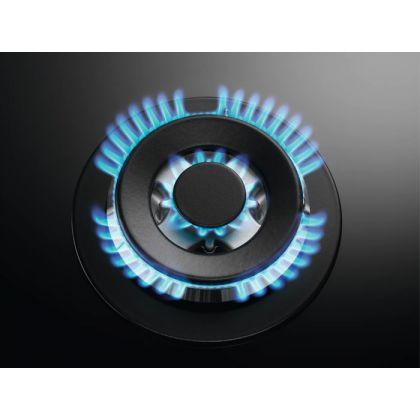 Plita incorporabila pe gaz AEG HKB64450NB, 60 cm, 4 arzatoare, Aprindere electrica, Conexiune hota, Timer, Negru