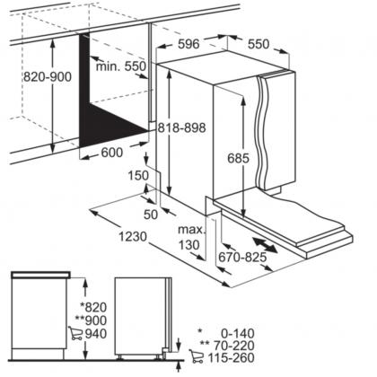 Masina de spalat vase incorporabila AEG FSE73727P, 60 cm, 15 seturi, AirDry, 7 programe,Inverter, Touch control