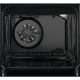 Aragaz mixt Electrolux SteamBake AirFry LKK660200W, 60 cm, 4 arzatoare gaz, Grill, Cuptor electric 58 L, Alb