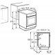 Aragaz mixt Electrolux SteamBake AirFry LKK560000X, multifunctional (11 functii), 4 Arzatoare gaz, Grill, Cuptor electric, 58 L, 50x60 cm, Inox