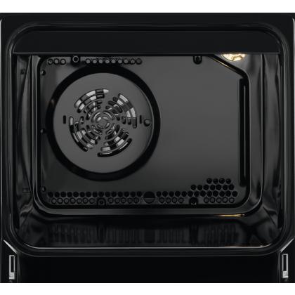 Aragaz mixt Electrolux LKM660200X SteamBake AirFry, 3 Arzatoare gaz, 1 Arzator electric, Grill, Cuptor electric, 58 L, 60 cm, Inox
