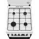 Aragaz Electrolux LKG500002W pe Gaz, 4 Arzatoare, Timer mecanic, Grill, Rotisor, Aprindere Electrica, Siguranta gaz, Iluminare cuptor, 50x60 cm, Alb