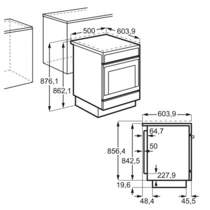 Aragaz Electrolux LKG500001W pe Gaz, 4 Arzatoare, Grill, Aprindere Electrica,Siguranta plita+cuptor; Timer mecanic 50x60 cm, Alb