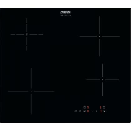 Plita incorporabila inductie Zanussi ZITN641K, 60 cm, 4 zone de gatit, Control touch, Booster, Timer, Neagra