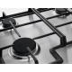Plita incorporabila pe gaz Zanussi ZGH66424XS, 60 cm, 4 arzatoare, Wok, Aprindere electrica integrata, Gratare fonta, Inox