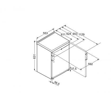 Congelator Liebherr GX 823, SmartFrost, 68 L, clasa F, Alb