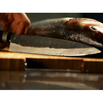 Cutit pentru filetat Chroma Haiku - Kurouchi B-02 Atsu Deba, 16.5 cm, Blue Steel, forjat manual