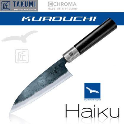 Cutit universal Chroma Haiku - Kurouchi B-04 Funayuki, 15 cm, Blue Steel, forjat manual