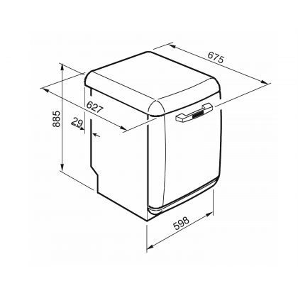 Masina de spalat vase retro Smeg LVFABBL3, neagra, 11 programe