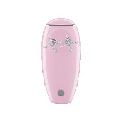 Mixer de mana retro SMEG HMF01PKEU, roz, 250w, timer pe maner