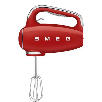 Mixer de mana retro SMEG HMF01RDEU, rosu, 250w, timer pe maner