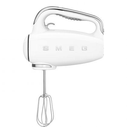 Mixer de mana retro SMEG HMF01WHEU, alb, 250w, timer pe maner