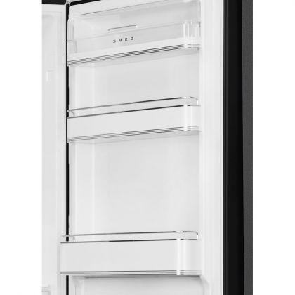 Combina frigorifica retro Smeg FAB32RBL5, No Frost, clasa D, negru, balamale pe dreapta