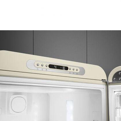 Combina frigorifica retro Smeg FAB32RCR5, No Frost, clasa D, crem, balamale pe dreapta