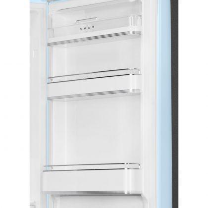 Combina frigorifica retro Smeg FAB32RPB5, No Frost, clasa D, balamale pe dreapta, albastru pal