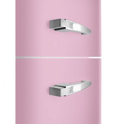 Combina frigorifica retro Smeg FAB32RPK5, No Frost, clasa D, roz, balamale pe dreapta