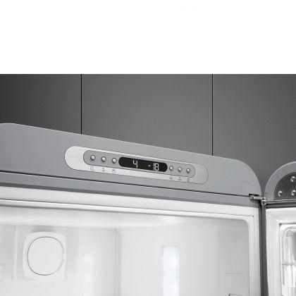 Combina frigorifica retro Smeg FAB32RSV5, No Frost, clasa D, gri , balamale pe dreapta