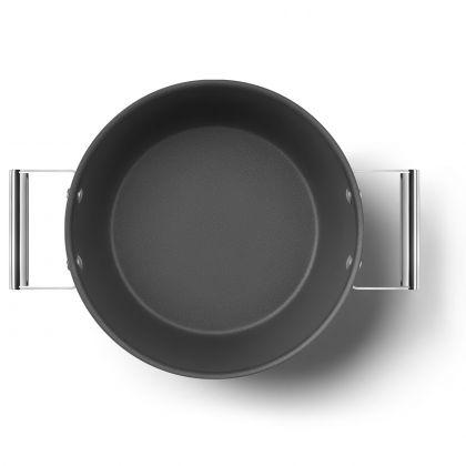 Oala retro Smeg 50's Style CKFC2611BLM, negru, 26 cm