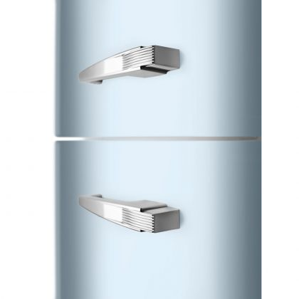 Combina frigorifica retro Smeg FAB32LPB5, No Frost, clasa D, balamale pe stanga, albastru pal